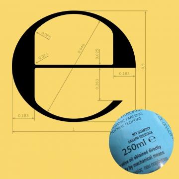 Το «κατ' εκτίμηση» σύμβολο (estimated sign) «e»